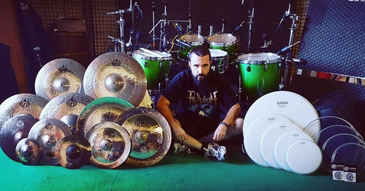 Alessandro Formichi joins the DIRIL CYMBALS and CODE DRUM HEAD Artist Family